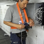 Rafael Pisano (antennistagenova.it) al lavoro