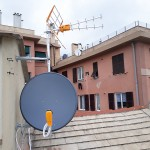 Parabola satellitare e antenna per DTT