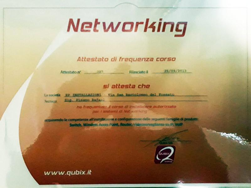 Attestato corso Networking