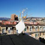 Impianto digitale terrestre e satellitare per 34 appartamenti a Sampierdarena. L'impianto satellitare è già compatibile con i decoder di ultima generazione di Sky (per intendersi, Sky Q)