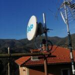 Impianto EOLO a Murta a 100 Mbit con il ripetitore di Granarolo