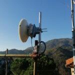 Impianto EOLO a Murta a 100 Mbit copn il ripetitore di Granarolo