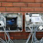 Impianto miscelato (digitale terrestre e satellitare) a Cornigliano - I due armadietti aperti