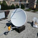 Impianto miscelato (digitale terrestre e satellitare) a Cornigliano - La parabola satellitare