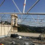 Spostamento del parco antenne per copertura del terrazzo con i ponteggi - 001